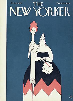 Fashion Painting - New Yorker December 19th, 1925 by Julian de Miskey