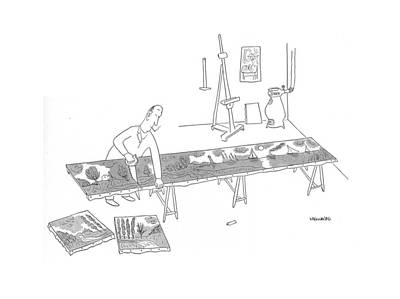 Mural Drawing - New Yorker December 19th, 1942 by Saul Steinberg