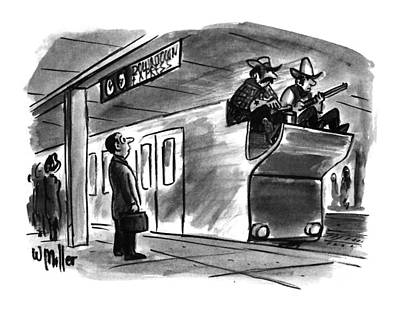 Stagecoach Drawing - New Yorker December 19th, 1994 by Warren Miller