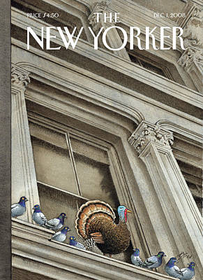 Library Painting - New Yorker December 1st, 2008 by Harry Bliss