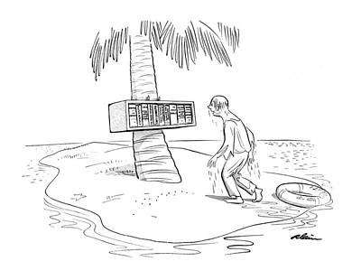 Caribbean Sea Drawing - New Yorker December 20th, 1958 by  Alain
