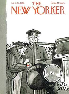 Peter Painting - New Yorker December 20th, 1958 by Peter Arno