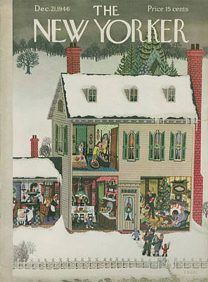 New Yorker December 21st, 1946 Art Print by Edna Eicke