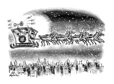 New Yorker December 21st, 1992 Art Print by Ed Fisher