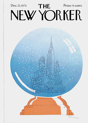 Empire State Building Painting - New Yorker December 22nd, 1975 by RO Blechman