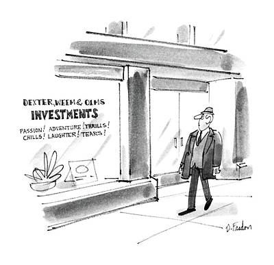 Dexter Drawing - New Yorker December 22nd, 1986 by Dana Fradon