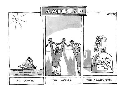 Celebrity Drawing - New Yorker December 22nd, 1997 by Jack Ziegler