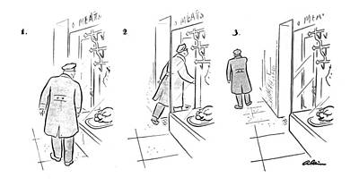 Action Drawing - New Yorker December 23rd, 1944 by  Alain