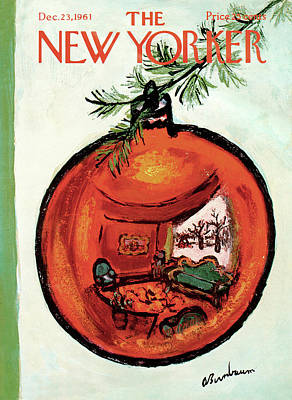 Sphere Painting - New Yorker December 23rd, 1961 by Abe Birnbaum