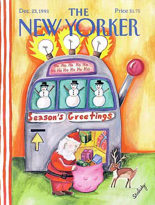 Stephanie-skalisky Painting - New Yorker December 23rd, 1991 by Stephanie Skalisk