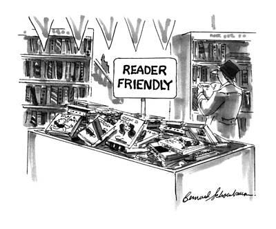Friendly Drawing - New Yorker December 23rd, 1996 by Bernard Schoenbaum