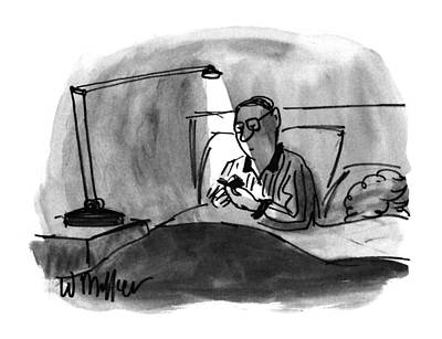 Night Lamp Drawing - New Yorker December 23rd, 1996 by Warren Miller