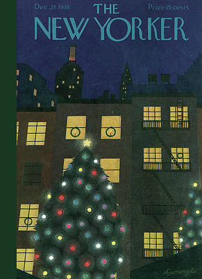 24th Painting - New Yorker December 24th, 1938 by Adolph K. Kronengold
