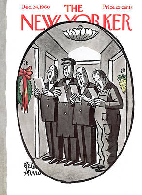 Painting - New Yorker December 24th, 1960 by Peter Arno