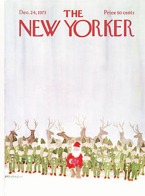 Elf Painting - New Yorker December 24th, 1973 by James Stevenson