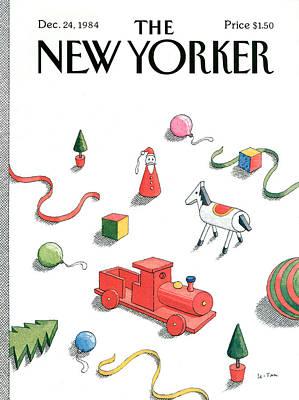 New Yorker December 24th, 1984 Art Print by Pierre LeTan