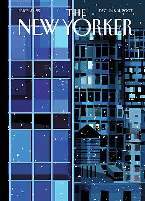 Painting - New Yorker December 24th, 2007 by Kim DeMarco
