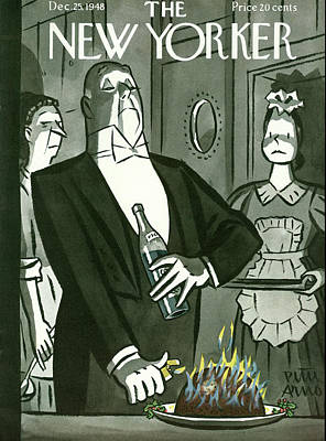 Peter Painting - New Yorker December 25th, 1948 by Peter Arno