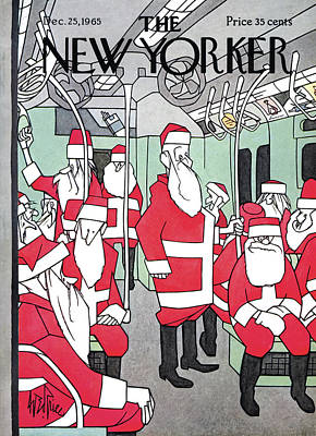 St. Nick Painting - New Yorker December 25th, 1965 by George Price