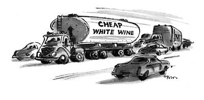Wine Drawing - New Yorker December 25th, 1978 by Lee Lorenz
