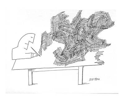 Doodles Drawing - New Yorker December 26th, 1964 by Saul Steinberg