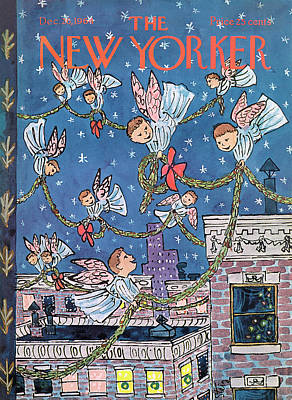 Streamer Painting - New Yorker December 26th, 1964 by William Steig
