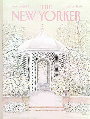 Winter Painting - New Yorker December 26th, 1983 by Jenni Oliver