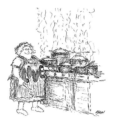 Bakery Drawing - New Yorker December 27th, 1969 by Edward Koren