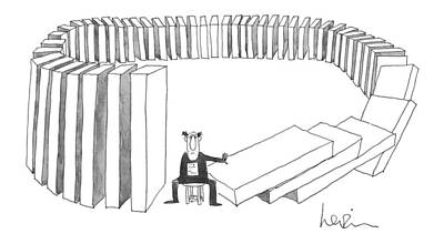 Chair Drawing - New Yorker December 27th, 1976 by Arnie Levin