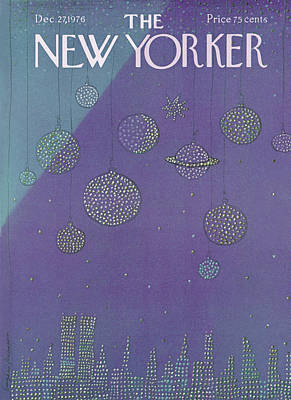 Night Painting - New Yorker December 27th, 1976 by Eugene Mihaesco