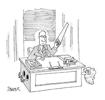 New Yorker December 28th, 1987 Art Print by Jack Ziegler