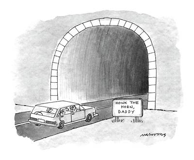 Family Car Drawing - New Yorker December 28th, 1992 by Mick Stevens