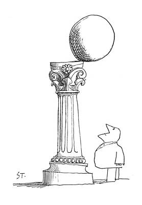 Spheres Drawing - New Yorker December 29th, 1962 by Saul Steinberg