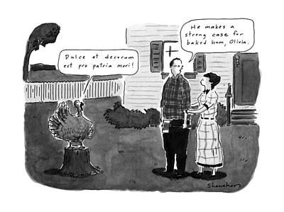 Drawing - New Yorker December 2nd, 1991 by Danny Shanahan