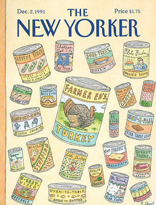 Food Painting - New Yorker December 2nd, 1991 by Roz Chast