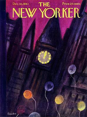 New Years Eve Painting - New Yorker December 30th 1961 by Beatrice Szanton