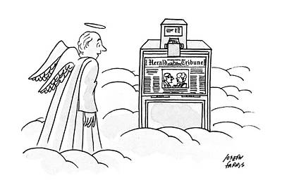 Angels Drawing - New Yorker December 30th, 1991 by Joseph Farris