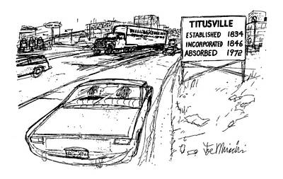 Titusville Drawing - New Yorker December 31st, 1979 by Joseph Mirachi