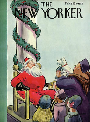 St. Nick Painting - New Yorker December 3rd, 1932 by Helen E. Hokinson