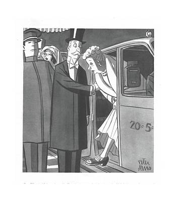 Drawing - New Yorker December 4th, 1943 by Peter Arno