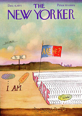 Flag Painting - New Yorker December 4th, 1971 by Saul Steinberg