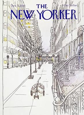 Winter Scene Painting - New Yorker December 4th 1978 by Arthur Getz