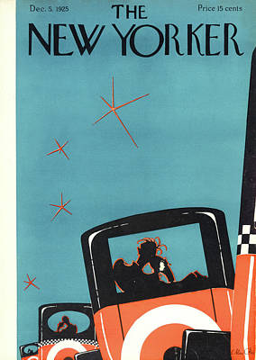 Night Painting - New Yorker December 5th, 1925 by Max Ree