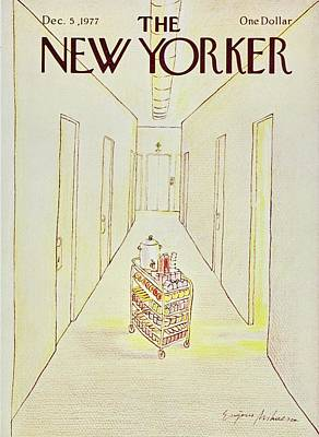 Food Painting - New Yorker December 5th 1977 by Eugene Mihaesco