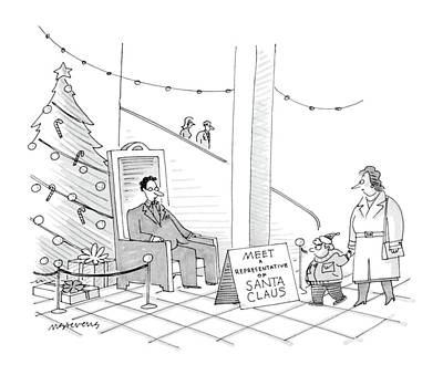 Santa Claus Drawing - New Yorker December 5th, 1988 by Mick Stevens