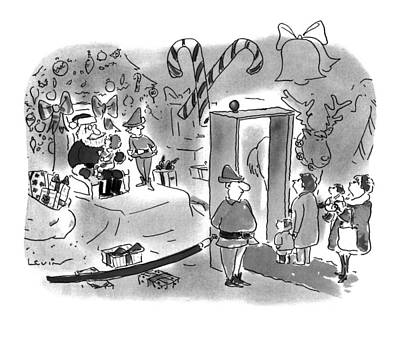 Must Drawing - New Yorker December 5th, 1994 by Arnie Levin