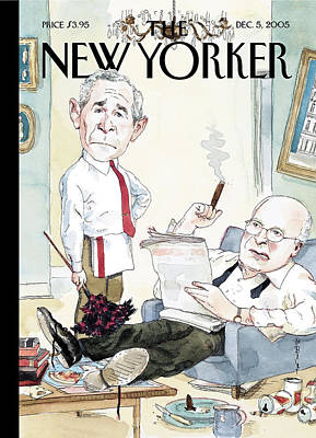 Word Play Painting - New Yorker December 5th, 2005 by Barry Blitt
