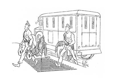 Grate Drawing - New Yorker December 6th, 1941 by George Price