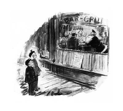 Shock Drawing - New Yorker December 6th, 1941 by Perry Barlow