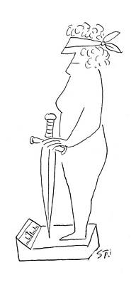 Plump Women Wall Art - Drawing - New Yorker December 6th, 1952 by Saul Steinberg